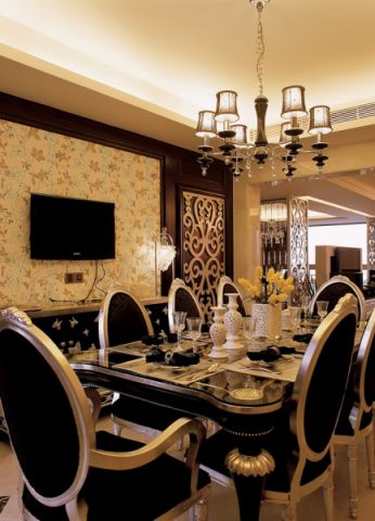 餐厅吊顶欧式风格效果图