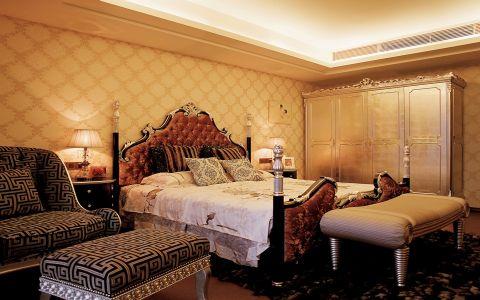 卧室背景墙欧式风格装饰效果图