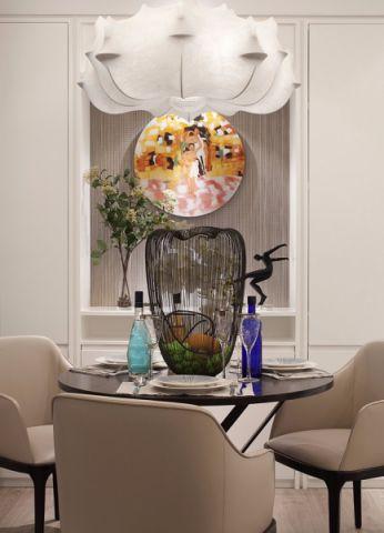 武夷绿洲 110平现代风格三居室装修效果图