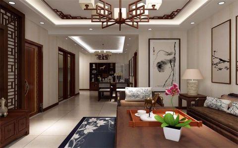 时代特区106平米三居室新中式风格装修案例