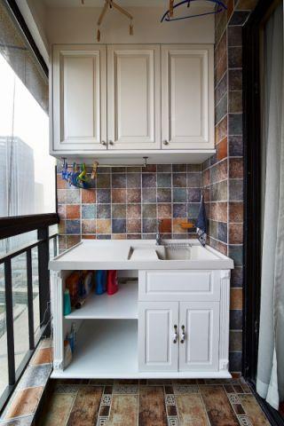 阳台细节美式风格装饰效果图