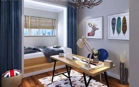 书房照片墙美式风格装饰效果图