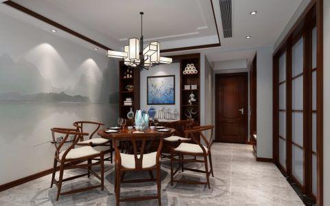 泛海国际186平米新中式楼房装修效果图