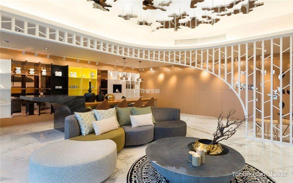 绿地香颂现代简约风格140平米二室装修效果图