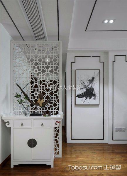 玄关白色隔断新中式风格装潢图片