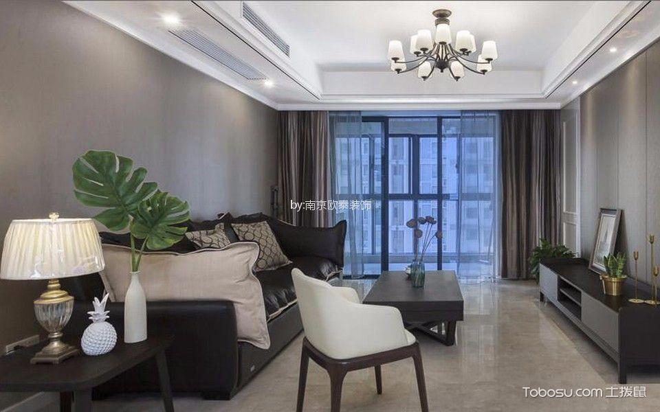 海赋尚城120平米三居室简美风格装修效果图