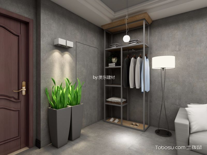 40平米LOFT混搭工业风单身公寓