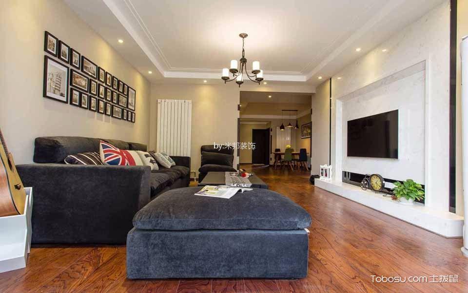 紫金城107平混搭风格三居室装修效果图