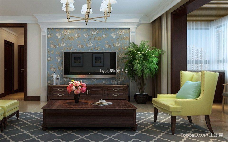 君泰中央公园162平米美式设计风格装修效果图