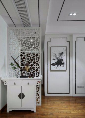 玄关隔断新中式风格装潢图片