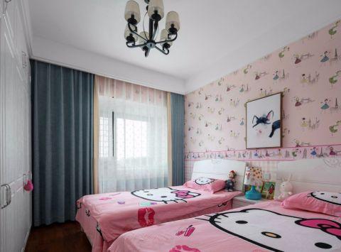 儿童房背景墙新中式风格装潢设计图片