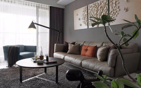 保利罗兰香谷105平米三居室现代简约风格装修效果图