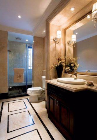 卫生间灯具美式风格装修图片