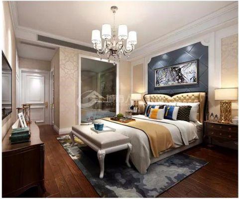 双裕世纪城119平米美式风格三室两厅装修效果图