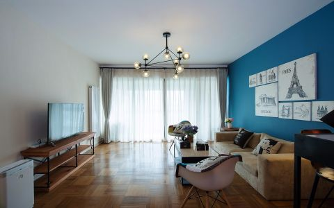 新城域130平混搭风格三居室装修效果图