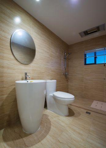 卫生间背景墙混搭风格装潢效果图
