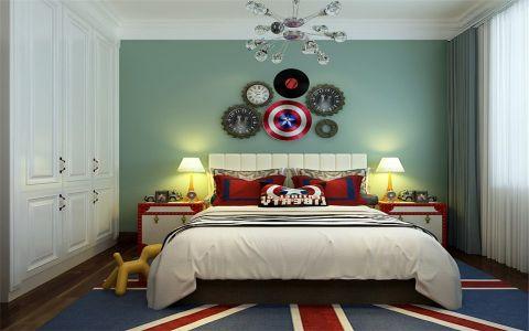儿童房窗帘美式风格装潢图片