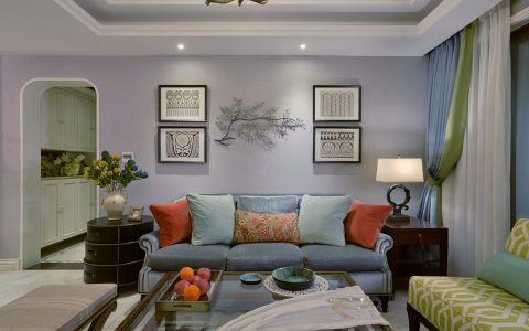 招商花园城125平混搭风格三居室装修效果图