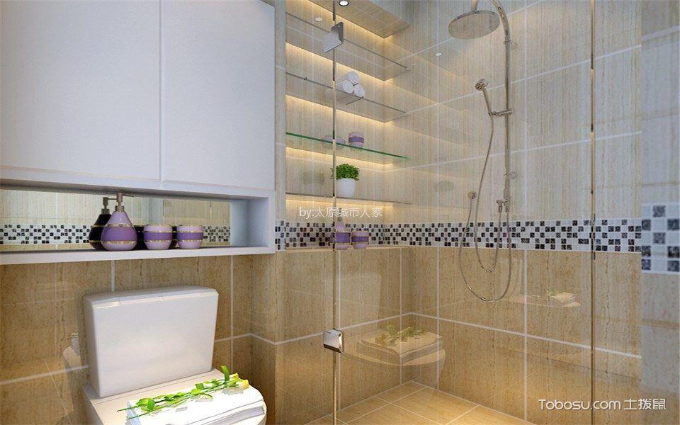 卫生间灰色隔断现代简约风格装修设计图片