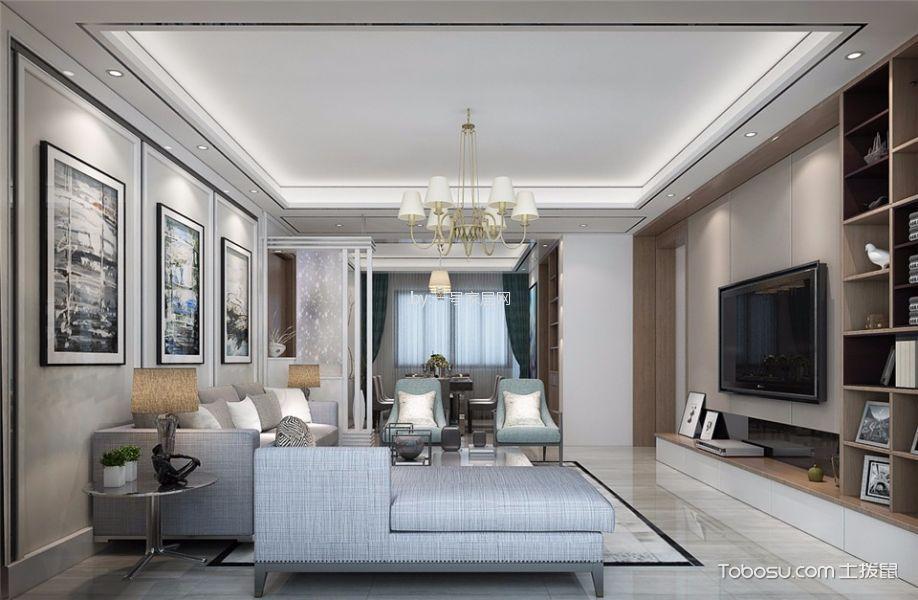 雅居乐三居室现代简约风格