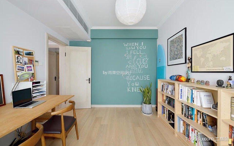 书房 背景墙_沪亭北路80平简欧风格一居室装修效果图