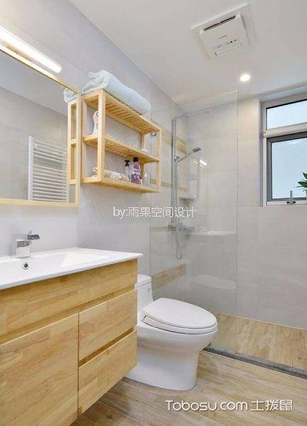 卫生间 隔断_沪亭北路80平简欧风格一居室装修效果图