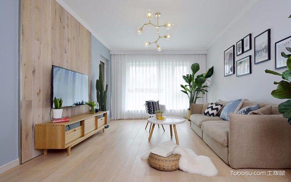 客厅 细节_沪亭北路80平简欧风格一居室装修效果图