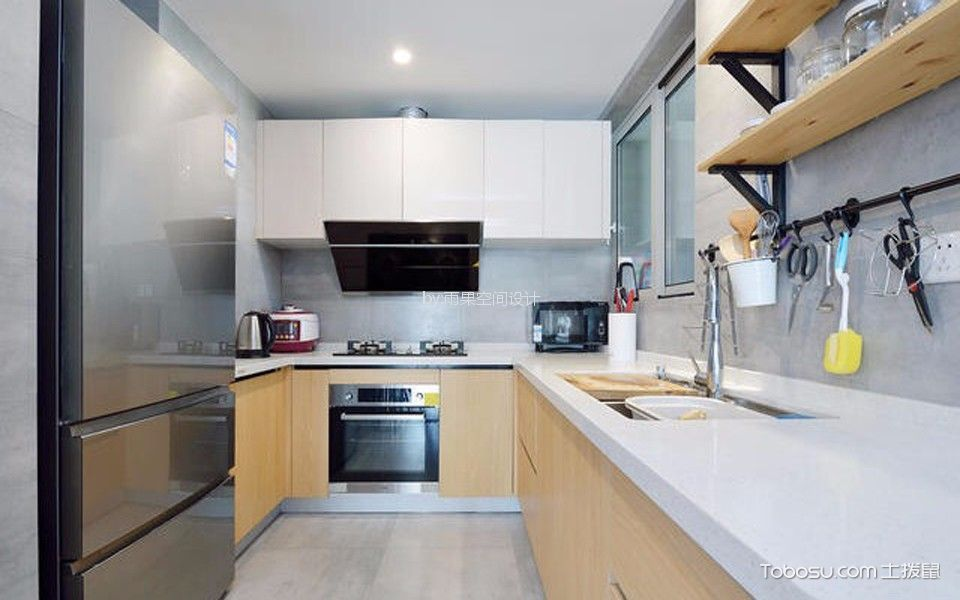 厨房 细节_沪亭北路80平简欧风格一居室装修效果图