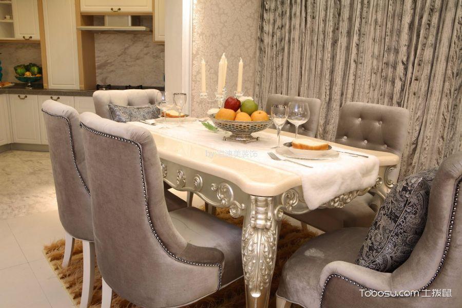 厨房白色细节欧式风格装潢设计图片