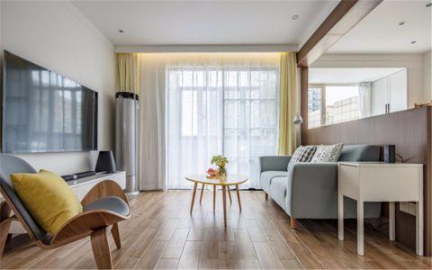 百瑞景中央生活区 81平北欧风格两居装修效果图