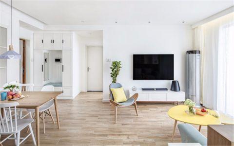 客厅背景墙北欧风格装饰设计图片