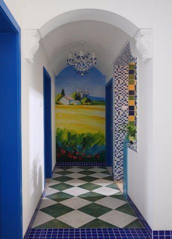 玄关背景墙地中海风格装饰图片