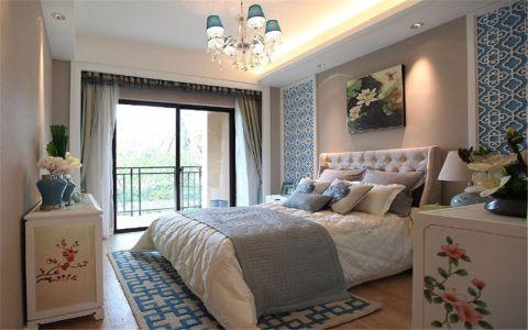 卧室窗台新中式风格装饰效果图