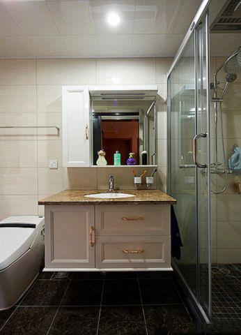 卫生间背景墙新古典风格效果图