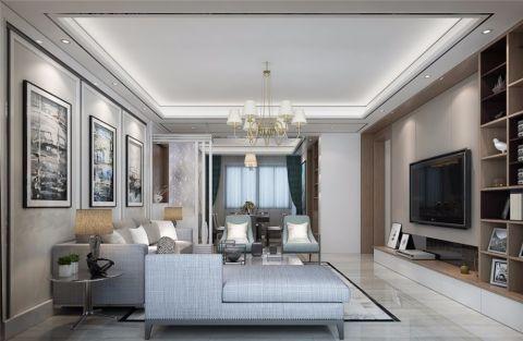 雅居乐140平三居室现代简约风格装修效果图