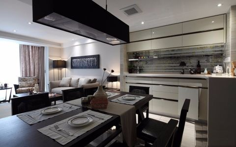 餐厅白色吊顶现代风格装潢效果图