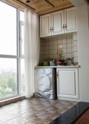 阳台飘窗美式风格装饰图片