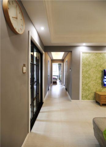玄关绿色走廊简约风格装修图片