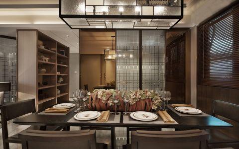 餐厅博古架现代简约风格装修效果图