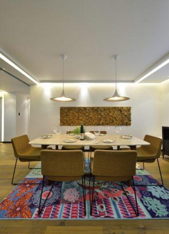 餐厅背景墙现代简约风格装饰设计图片