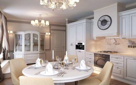 餐厅橱柜欧式风格装潢设计图片