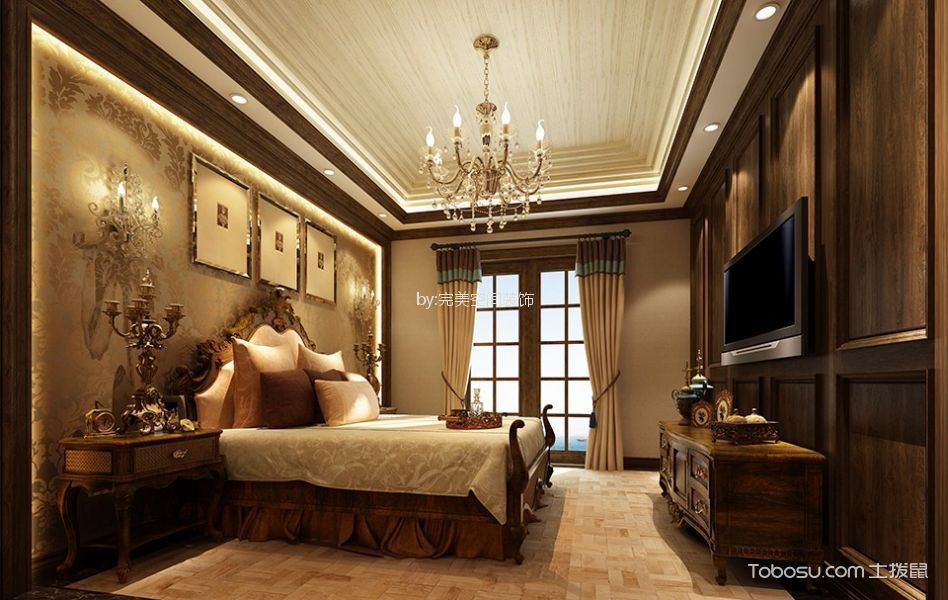红星威尼斯180-300平米美式风格别墅装修效果图