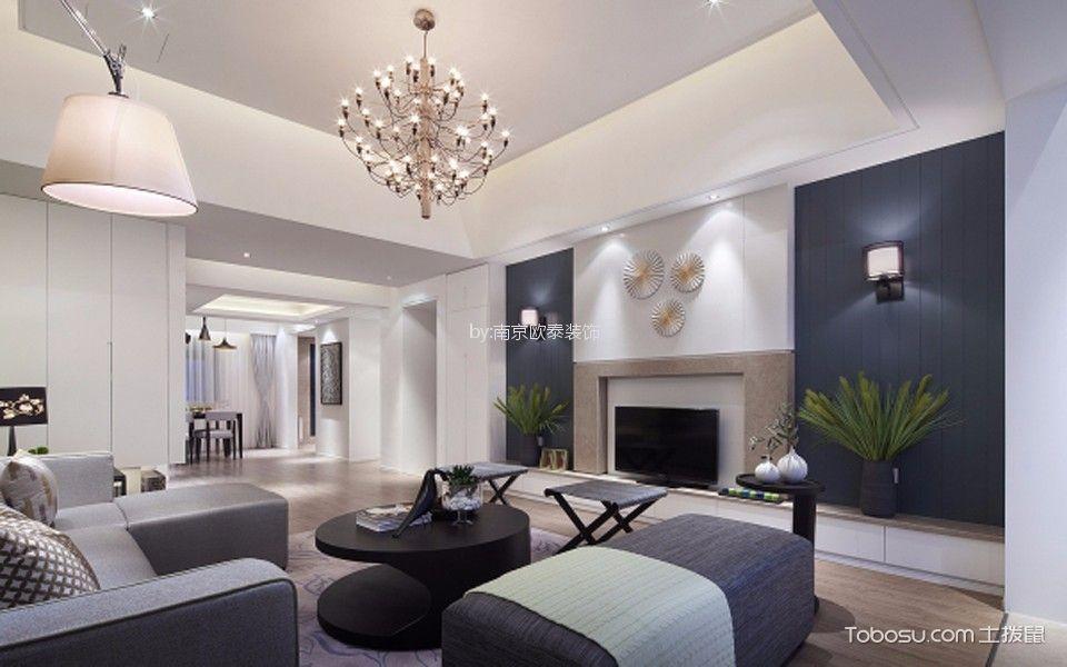 苏宁名都汇110平米现代简约风格三居室装修效果图