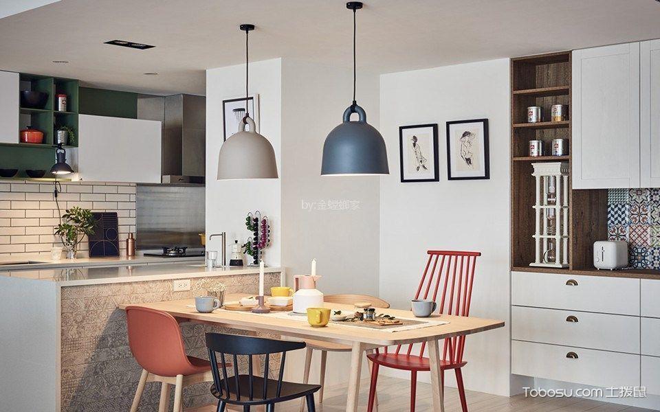 餐厅白色隔断现代简约风格装饰图片