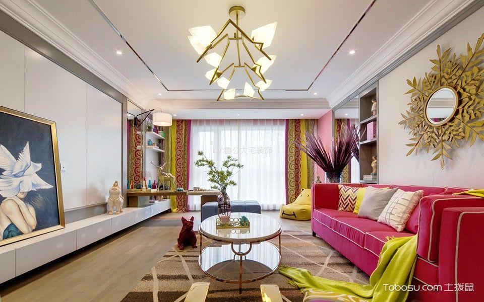 开来都市风景86平简约风格二居室装修效果图