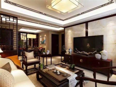 中正锦城142平米新中式风格大户型装修效果图