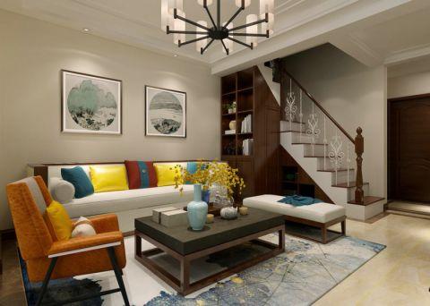 泰安泰山原著120平新中式风格三居室装修效果图