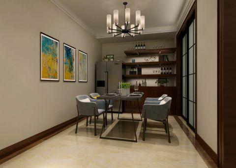 餐厅博古架中式风格装潢图片