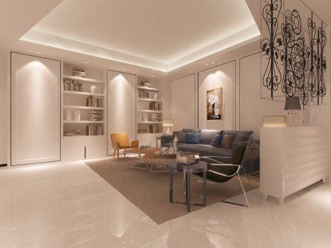 融信白宫120平米现代简约风格三居室装修效果图