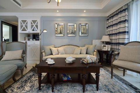 客厅照片墙美式风格装修图片